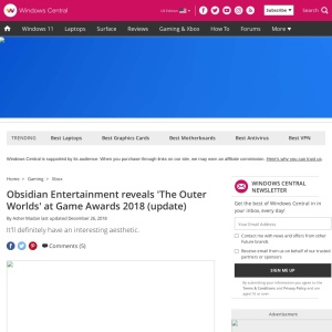 Obsidian Entertainment reveals 'The Outer Worlds' at Game Awards 2018 (update) | Windows Central