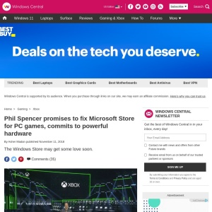 Phil Spencer promises to fix Microsoft Store for PC games, commits to powerful hardware | Windows Central