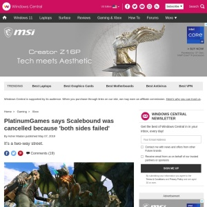 PlatinumGames says Scalebound was cancelled because 'both sides failed' | Windows Central