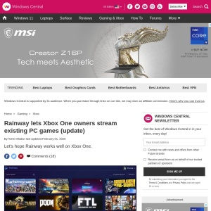 Rainway should let Xbox One owners stream existing PC games (update) | Windows Central