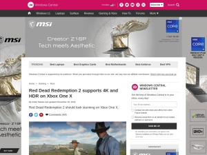 Red Dead Redemption 2 supports 4K and HDR on Xbox One X | Windows Central