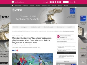 Monster Hunter-like 'Dauntless' gets cross-play between Xbox One, Nintendo Switch, PlayStation 4, more in 2019 | Windows Central