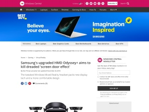 Samsung's upgraded HMD Odyssey+ aims to kill dreaded 'screen door effect' | Windows Central
