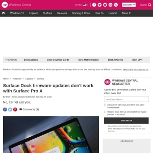 Surface Dock firmware updates don't work with Surface Pro X | Windows Central