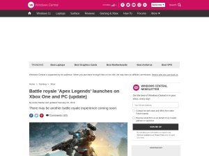 Battle royale 'Apex Legends' launches on Xbox One and PC (update) | Windows Central