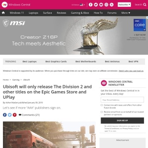 Ubisoft will only release The Division 2 and other titles on the Epic Games Store and UPlay | Windows Central