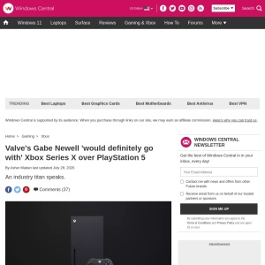 Valve's Gabe Newell 'would definitely go with' Xbox Series X over PlayStation 5 | Windows Central