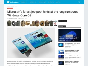 Microsoft's latest job post hints at the long rumoured Windows Core OS