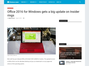 Office 2016 for Windows gets a big update on Insider rings