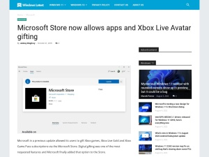 Microsoft Store now allows apps and Xbox Live Avatar gifting