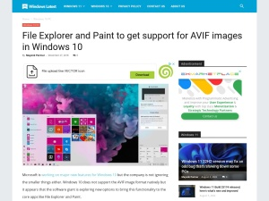 File Explorer and Paint to get support for AVIF images in Windows 10
