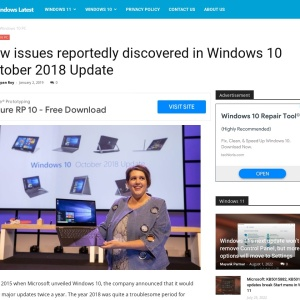New issues reportedly discovered in Windows 10 October 2018 Update