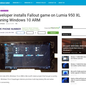 Developer installs Fallout game on Lumia 950 XL running Windows 10 ARM