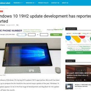 Windows 10 19H2 update development has reportedly started