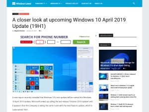 A closer look at upcoming Windows 10 April 2019 Update (19H1)