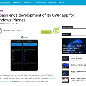 Enpass ends development of its UWP app for Windows Phones