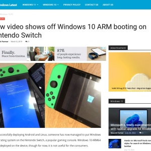 New video shows off Windows 10 ARM booting on Nintendo Switch