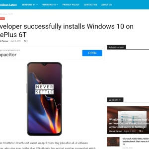 Developer successfully installs Windows 10 on OnePlus 6T