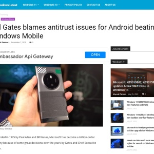 Bill Gates blames antitrust issues for Android beating Windows Mobile