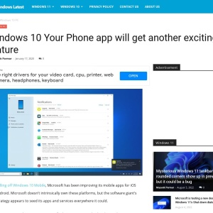 Windows 10 Your Phone app will get another exciting feature