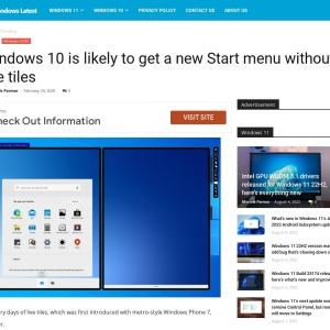 Windows 10 is likely to get a new Start menu without live tiles