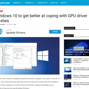 Windows 10 to get better at coping with GPU driver clashes
