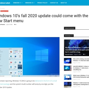 Windows 10's fall 2020 update could come with the new Start menu