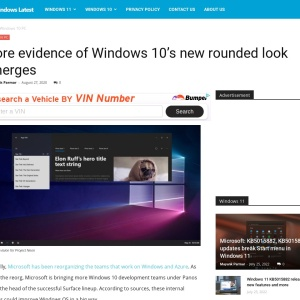 More evidence of Windows 10's new rounded look emerges