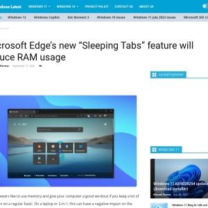 "Microsoft Edge's new ""Sleeping Tabs"" feature will reduce RAM usage"