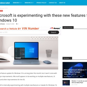 Microsoft is experimenting with these new features for Windows 10
