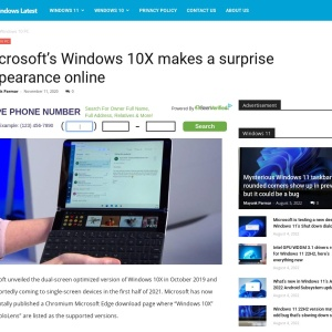 Microsoft's Windows 10X makes a surprise appearance online
