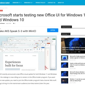 Microsoft starts testing new Office UI for Windows 11 and Windows 10