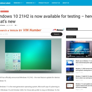 Windows 10 21H2 is now available for testing – here's what's new