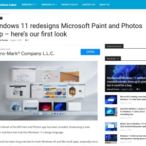 Windows 11 redesigns Microsoft Paint and Photos app - here's our first look