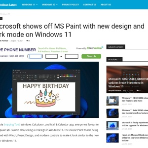 Microsoft shows off MS Paint with new design and dark mode on Windows 11