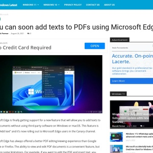 You can soon add texts to PDFs using Microsoft Edge