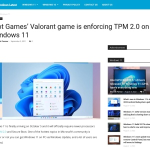 Riot Games' Valorant game is enforcing TPM 2.0 on Windows 11