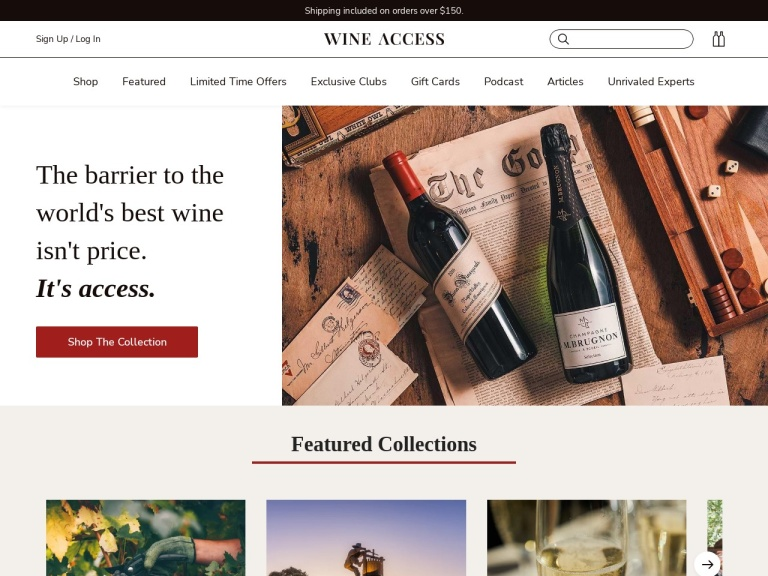 WineAccess screenshot