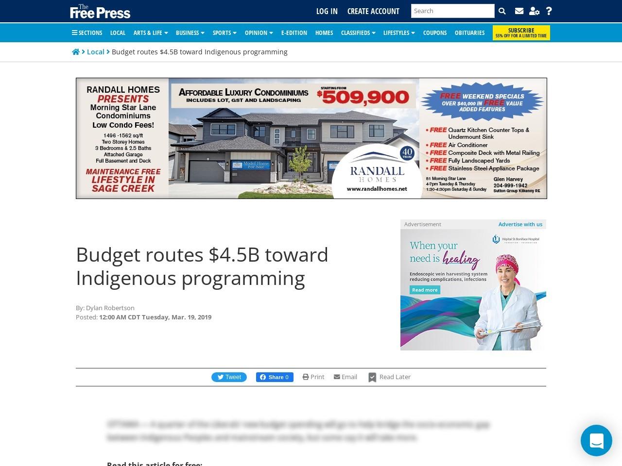 Budget routes $4.5B toward Indigenous programming