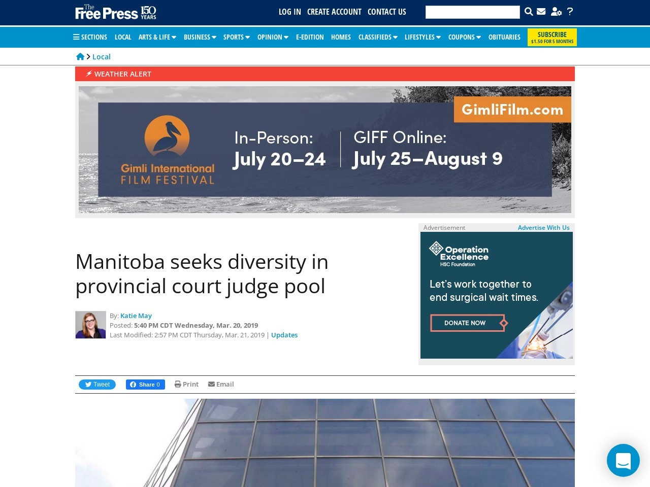 Manitoba seeks diversity in provincial court judge pool