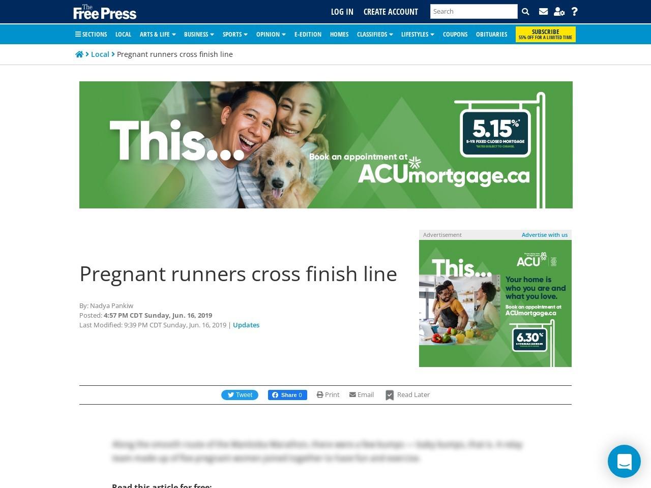 Pregnant runners cross finish line