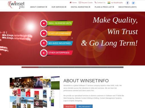 website Design & Development, SEO Services, Digital Marketing, Social media marketing