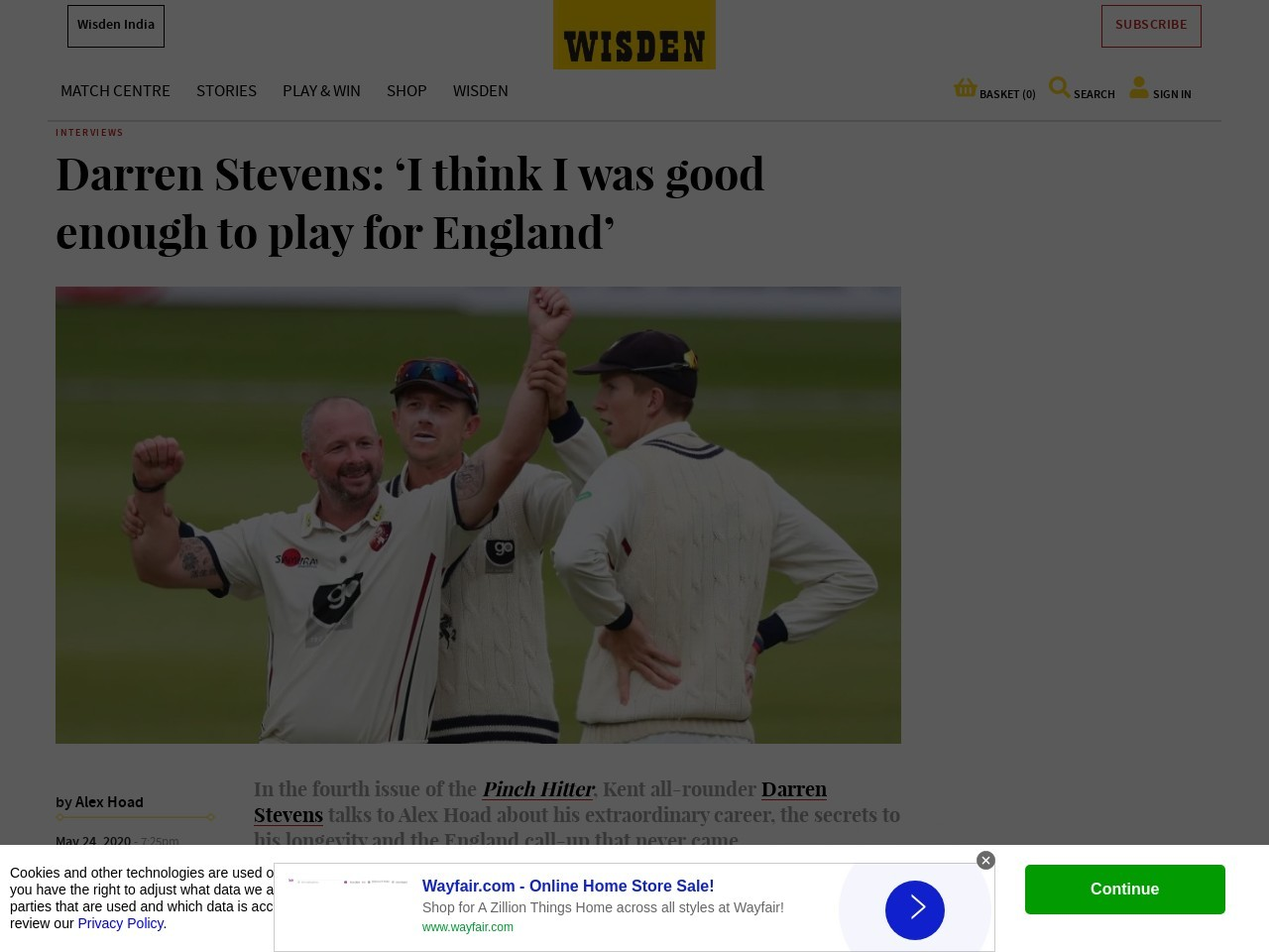 Darren Stevens: 'i Think I Was Good Enough To Play For England'