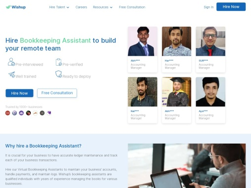 Hire a Virtual Bookkeeping Assistant   Virtual Assistant Service in USA   Wishup