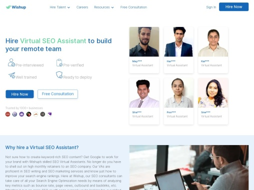 SEO Assistant   Best Virtual Assistance Services   Wishup