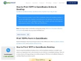 How to print 1099 in QuickBooks.