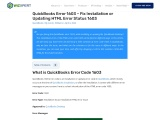 How to Fix QuickBooks Error 1603.