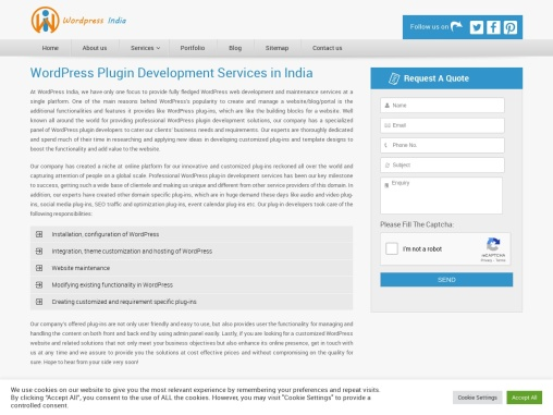 WordPress Plugin Development in India