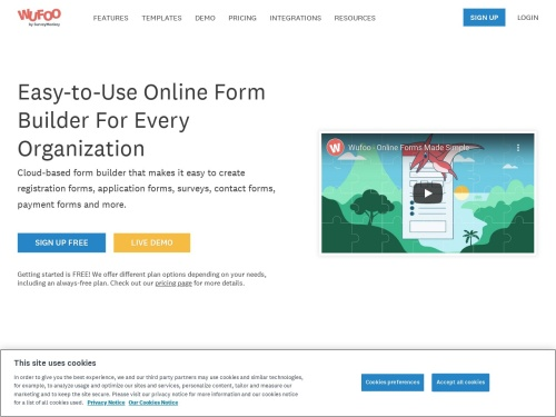 Wufoo: Online Form Builder - Create Web Forms & Surveys