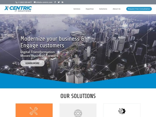 X-Centric IT Solutions delivers business-centric information technology solutions. Our main objectiv